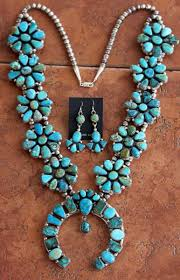 turquoise necklace set images Navajo silver turquoise necklace set by eloise kee jpg