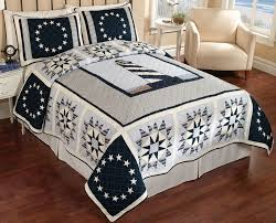 theme quilts quilts blue lighthouse nautical theme quilt bedspread and pillow