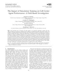 Sample Objectives In Resume For Call Center Agent by The Impact Of Simulation Training On Call Center Agent Performance