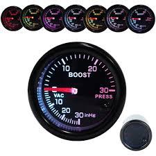 amazon com dewhel turbo boost vacuum meter 30psi pressure smoke 7