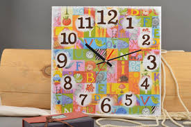 Home Decoration Handmade Kids Room Handmade Square Clock Beautiful Home Decor Ideas