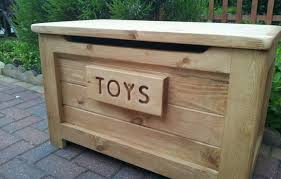 wooden toy box with handmade pine material also ottoman bench
