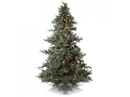 one artificial tree 9 blue spruce clear lights
