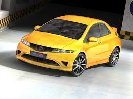 honda civic type r 2007 3d model