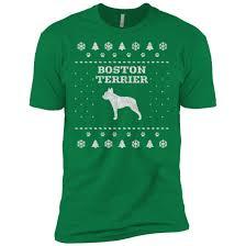 Boston Terrier Flag Boston Terrier Christmas Premium T Shirt U2013 Iheartdogs Com