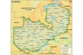map of zambia buy zambia maps from map store