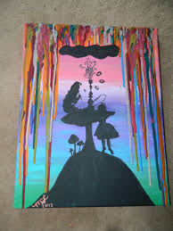 alice in waxland silhouette painting 40 00 via etsy super i was a huge fan of alice in wonderland and i loved art it was my life i didn t realize that i was full of paint until
