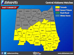 Map Of Alabama Counties A New Tornado Watch For Parts Of Central Alabama Until 11 00 Am