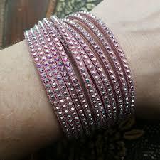 crystal pink bracelet images Swarovski jewelry nwot crystal pink slake wrap bracelet poshmark jpg