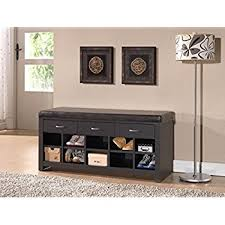 Furniture For Entryway Amazon Com Black Shoe Storage Cubbie Bench Kitchen U0026 Dining