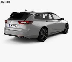opel insignia 2017 white opel insignia sports tourer turbo 4 4 2017 3d model hum3d