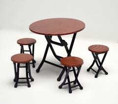 plastic round table and chairs round foldable table and chairs set