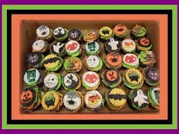 halloween toppers halloween cupcakes orange green and purple batter and buttercream