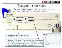 need bosch washing machine repair manual