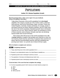 fillable online chapter 19 active reading worksheets populations