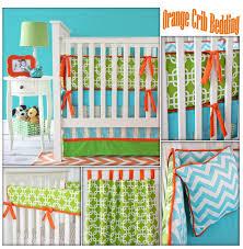 Bright Crib Bedding Orange Crib Bedding Caden