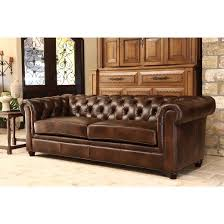 Tufted Brown Leather Sofa Charming Keswick Tufted Leather Sofa Abbyson Living Target In