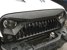 jeep wrangler front grill amazon com opar matte black front gladiator vader grille for 2007