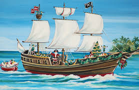 santa s pirate ship boxed cards xrm23 free shipping