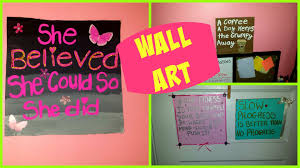 quote to decorate a room room decor diy cardboard quotes wall art youtube