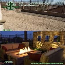 before and after chip n dale u0027s custom landscaping