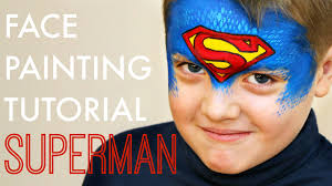 superman u2014 fast and easy face painting tutorial youtube