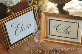 table numbers wedding table number wedding signs calligraphy style marrygrams