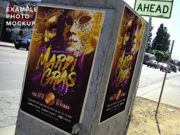 gold mask mardi gras flyer template flyerheroes
