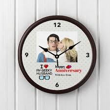 personalized anniversary clocks geeky husband personalized anniversary clock gift send home and