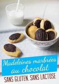 cuisiner sans lactose madeleines marbrées au chocolat sans gluten sans lactose