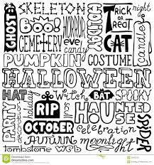 hand drawn halloween text words royalty free stock photos image