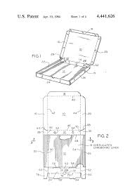 patent us4441626 pizza box google patents