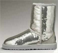 uggs womens boots discounted s sparkles silver boots
