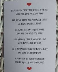 wedding gift list poems honeymoon poems to and to asking for money