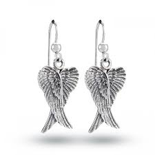 wing earrings angel wings earrings sterling silver angel jewellery