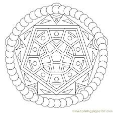pentagon circle coloring free shapes coloring pages