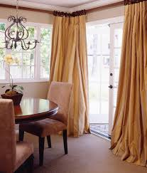 Custom Design Draperies Living Room Drapes In Silk That Puddle Gracefully