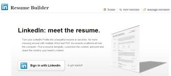 computer resume resume builder create a resume from your linkedin profile