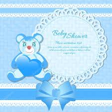 baby shower greeting card for baby boy stock vector osipovdim