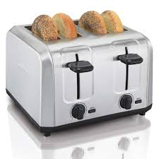Cuisinart Toaster 4 Slice Stainless Hamilton Beach Brushed Stainless Steel 4 Slice Toaster 24910