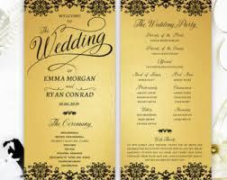 cheap printed wedding programs black and white wedding programs cheap programs for wedding