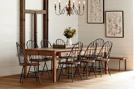 farmhouse table and chairs with bench farmhouse magnolia home