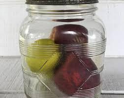 big glass canister large gallon jar 5238 hazel atlas vintage