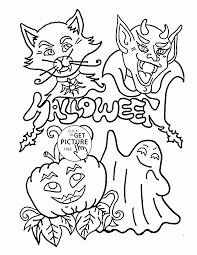 Free Halloween Coloring Page by Funny Halloween Coloring Pages For Kids Holidays Printables Free