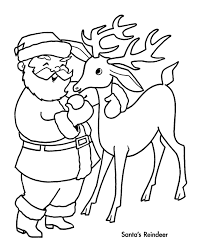 the holiday site santa u0027s reindeer coloring pages