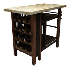 vintage used brown islands and butcher blocks chairish handcrafted kitchen island wine bar with butcher block