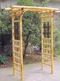 Arbor Trellis Ideas Best 25 Bamboo Garden Fences Ideas On Pinterest Bamboo Bamboo