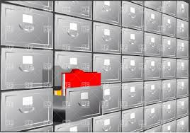 Free Filing Cabinet Folder Search File Cabinet With Half Open Container Vector