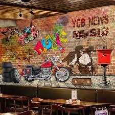 beibehang custom large d creative brick wall hand painted brick walls interior graffiti