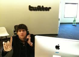 ashton kutcher in the twitter office popsugar tech